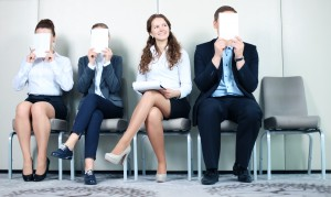 Young people waiting for job interview