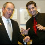 Mentalist Ehud Segev and Mayor Michael Bloomberg